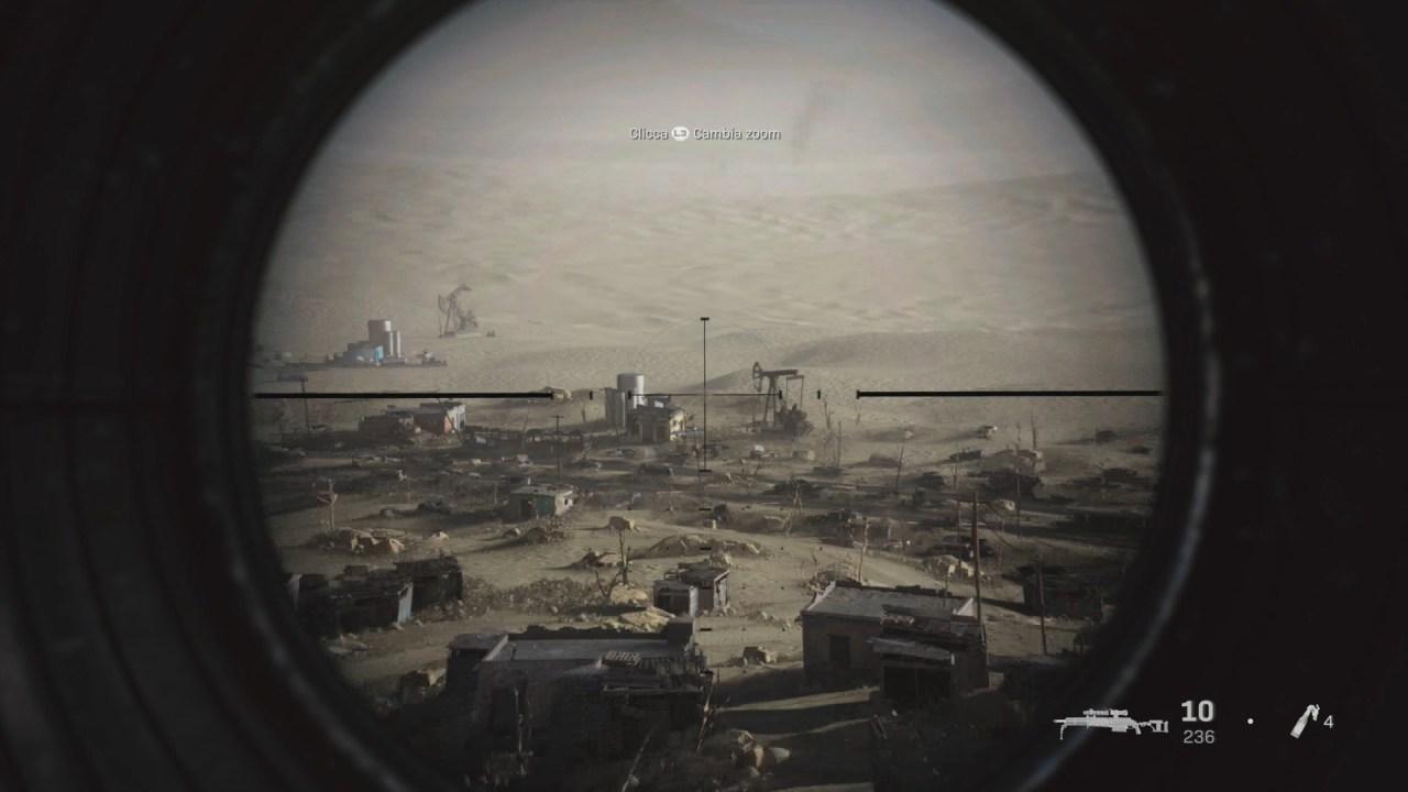 Call of Duty Modern Warfare incursione con il visore da cecchino