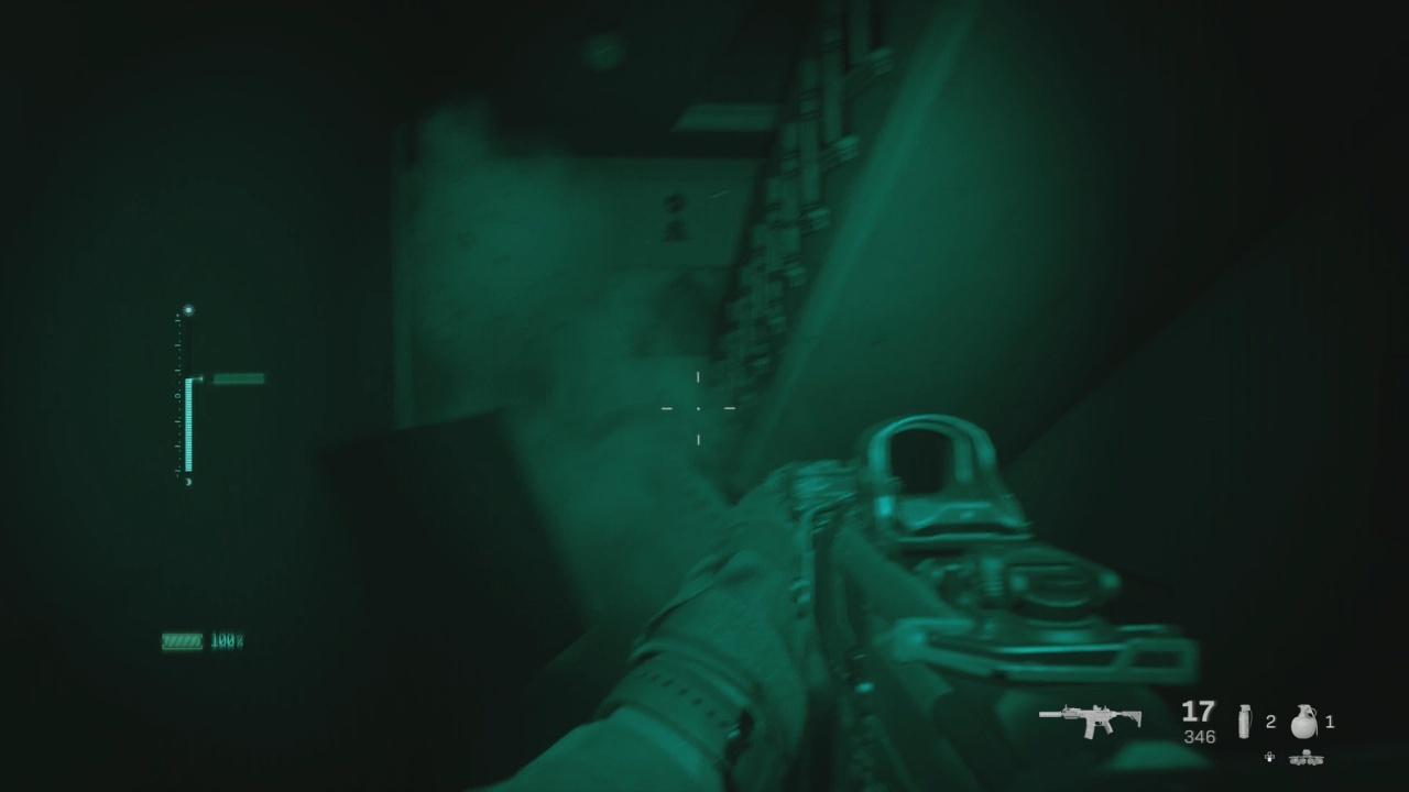 Call of Duty Modern Warfare incursione con il visore termico