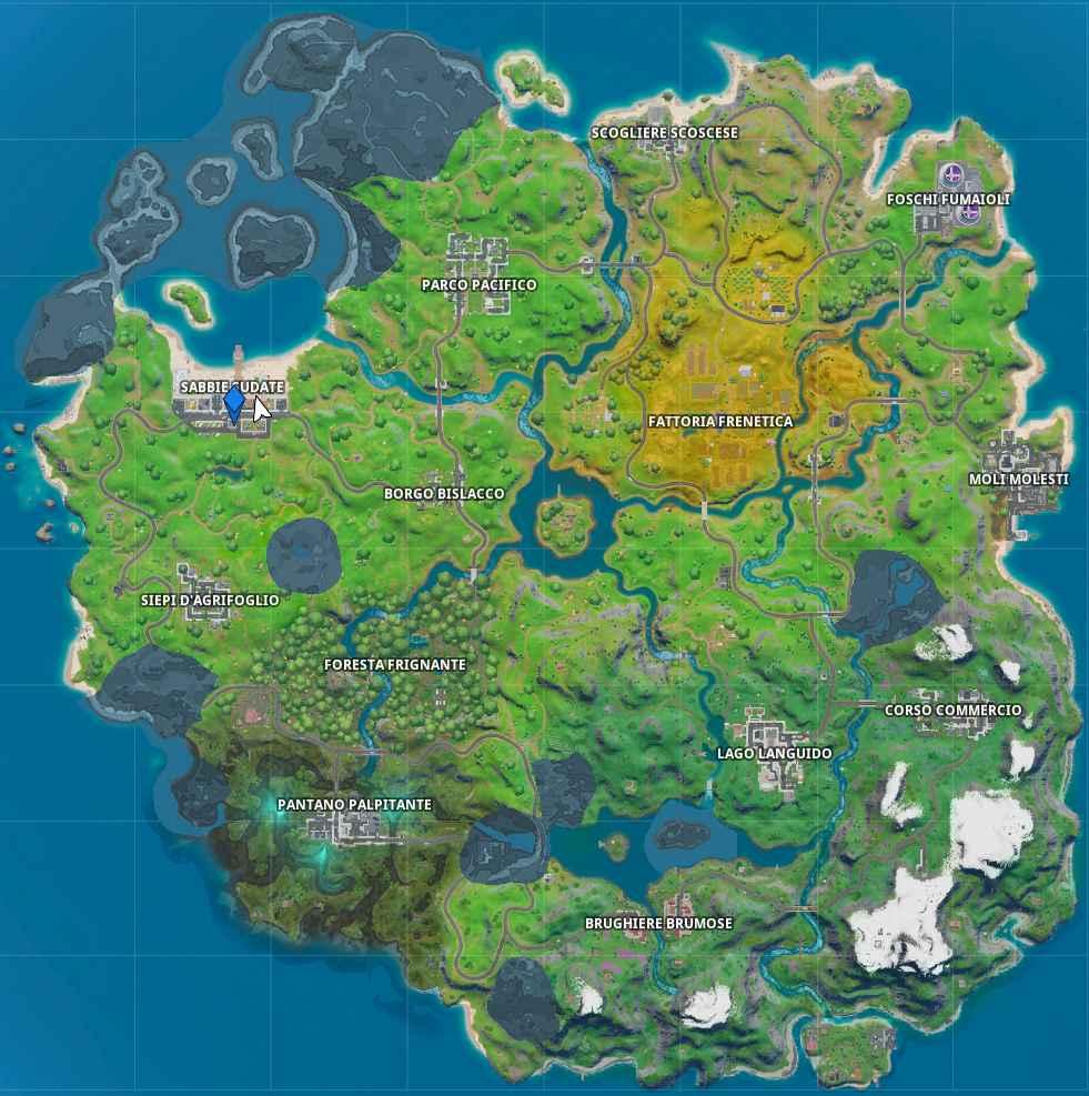 Fortnite capitolo 2 mappa