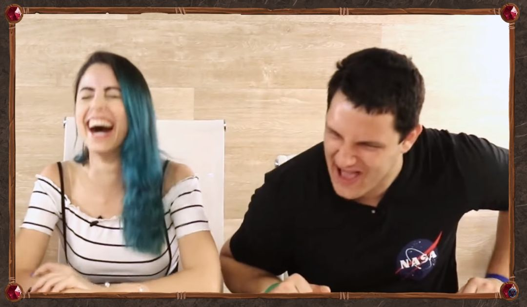 Screenshot dalla Sesta Puntata di LUxastra 2 che mostra Sara e Tommy