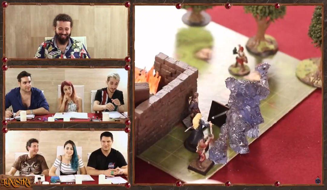 Screenshot dell'Elementale della Terra comparso nell'episodio 7 di Luxastra