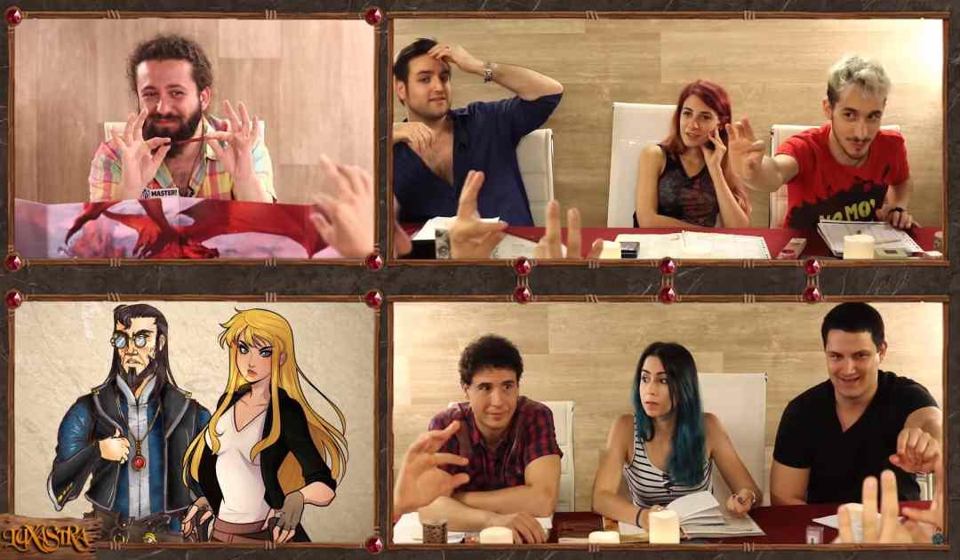 Screenshot dal Quinto Episodio di Luxastra che mostra il Party alle prese con l'Arcanista