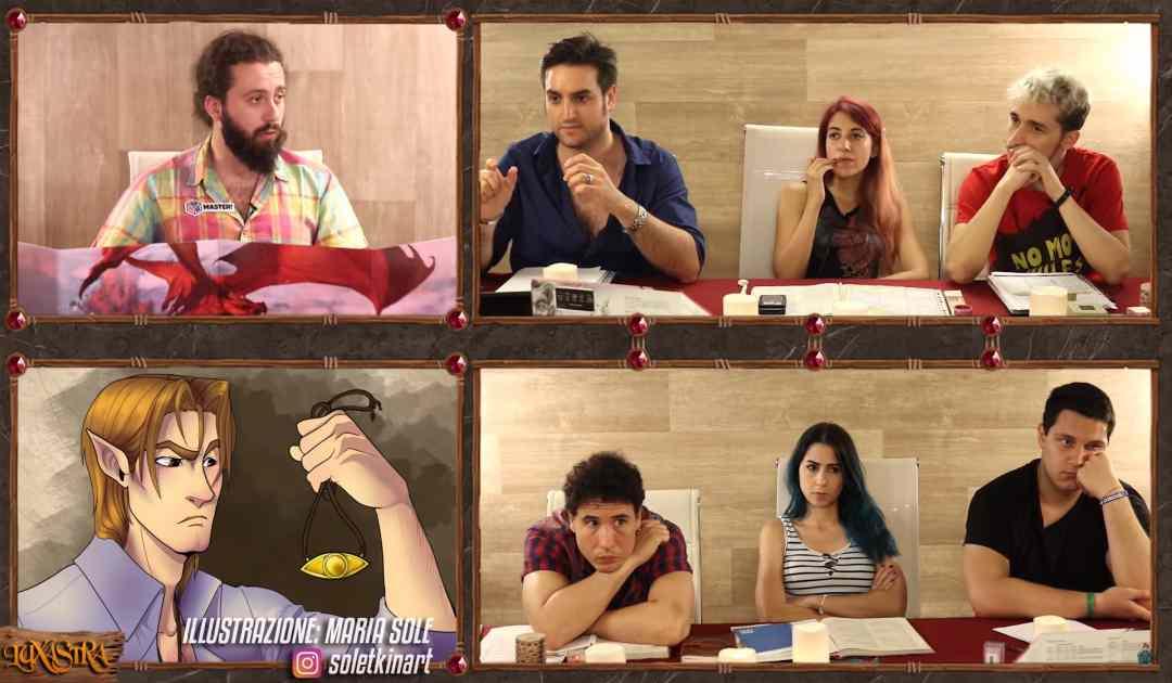 Screenshot dal Quinto Episodio di Luxastra che mostra Rendar ottenere il ciondolo della Chiesa dei Venti