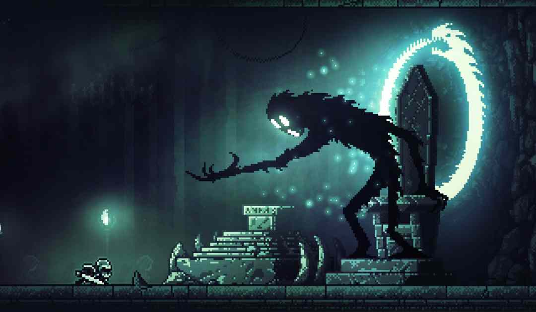 Screenshot del cavaliere e della creatura oscura di INMOST