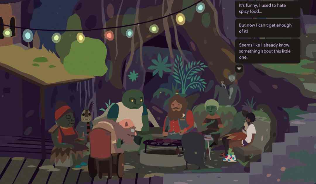 Screenshot di una cena su Mutazione