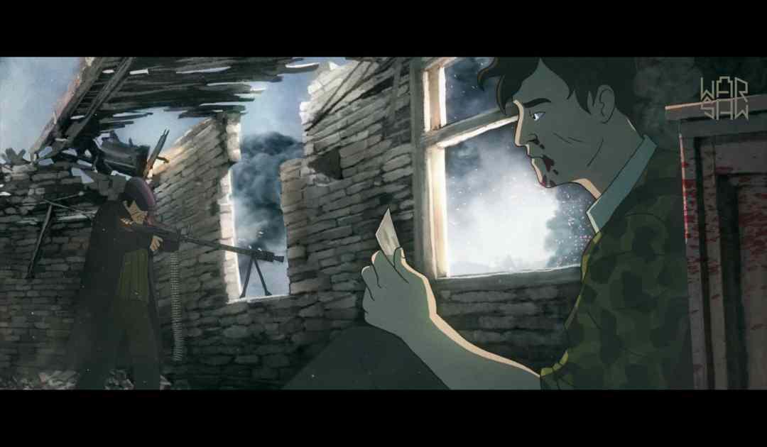 Screenshot dalla cutscene iniziale di Warsaw