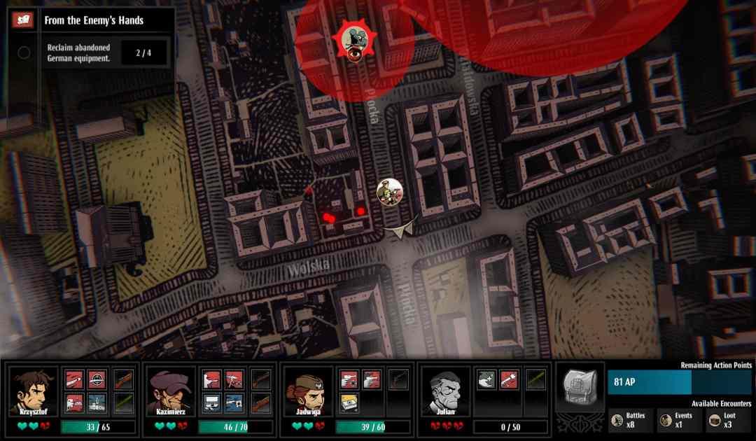 Screenshot di una missione in Warsaw
