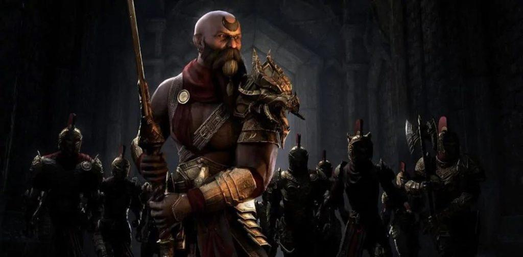 Sai Sahan, uno degli NPC principali del DLC The Elder Scrolls Dragonhold