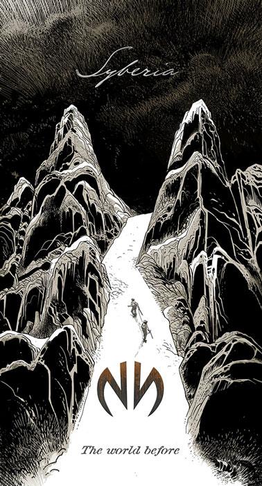 copertina in bianco e nero del nuovo capitolo. Due figure stilizzate scalano una montagna