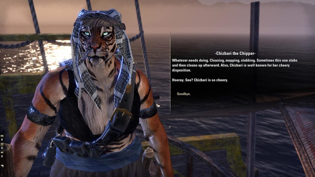 Un Khajiit pirata in ESO Dragonhold