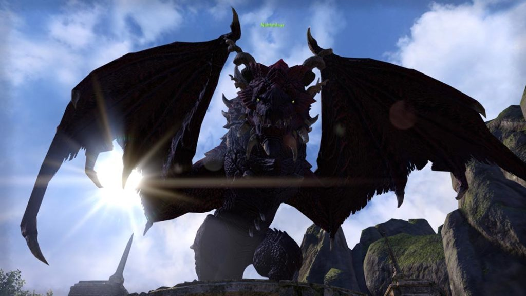 Un drago alleato in The Elder Scrolls Dragonhold