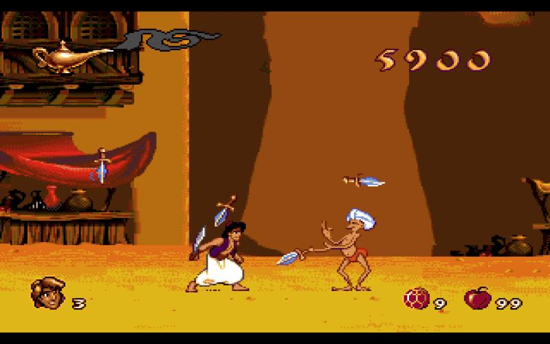 Screen dalla versione 1993 di Aladdin