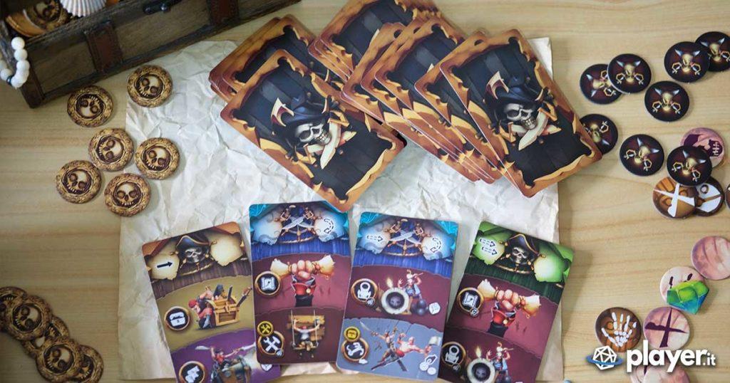 Dead Man's Doubloons la recensione del gioco da tavolo piratesco di Gateongames