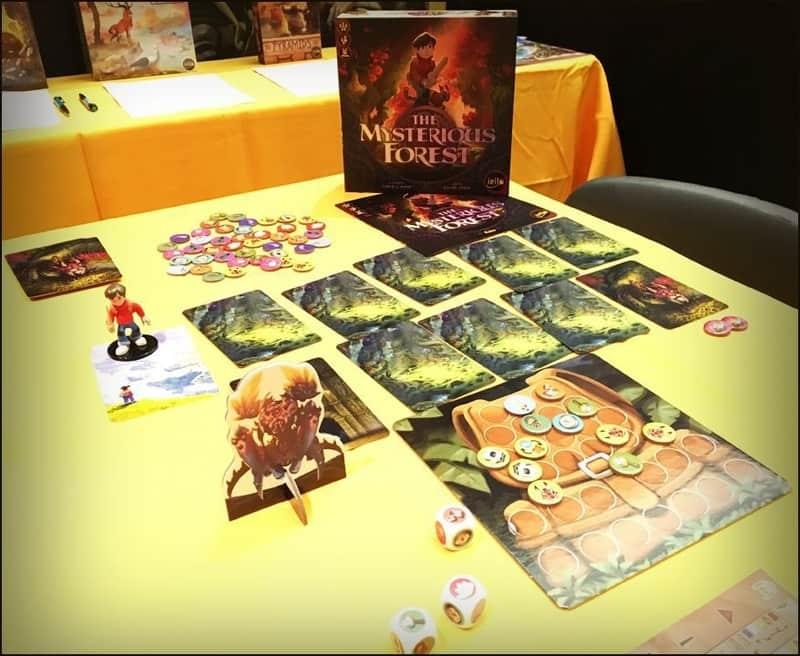 componenti la foresta misteriosa di carlo rossi docente del corso di board game design