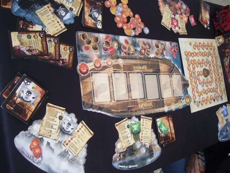 componenti libertalia di Paolo Mori docente del corso di board game design