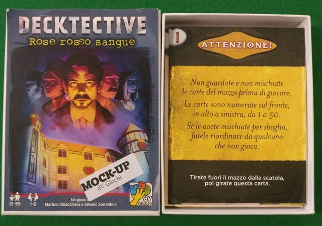 player decktective rose rosso sangue confezione
