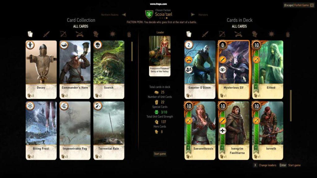 dove trovare tutte le carte di gwent the witcher 3