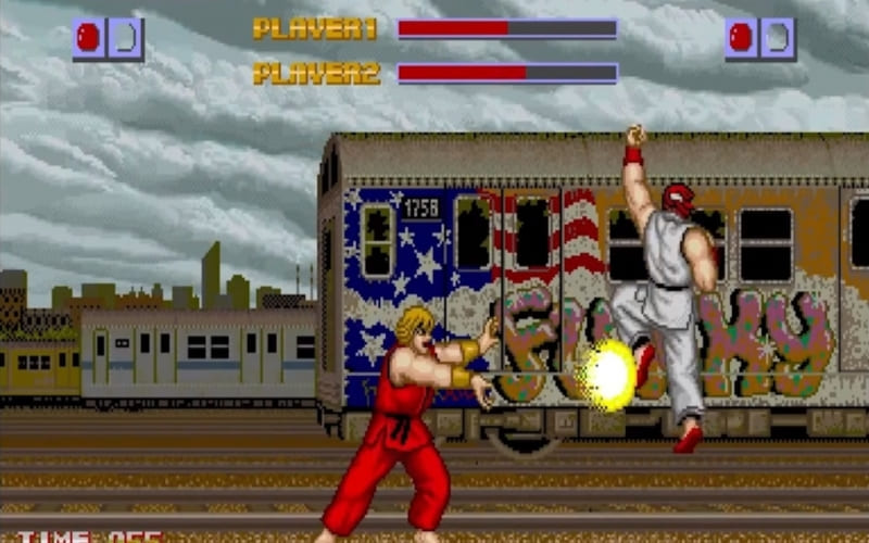 Una screenshot di Street Fighter (1987)