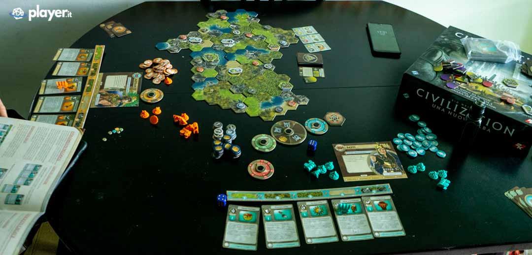 tabellone di gioco civilization una nuova alba