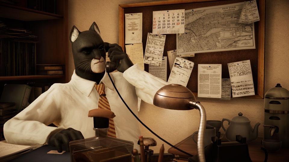 Blacksad al telefono