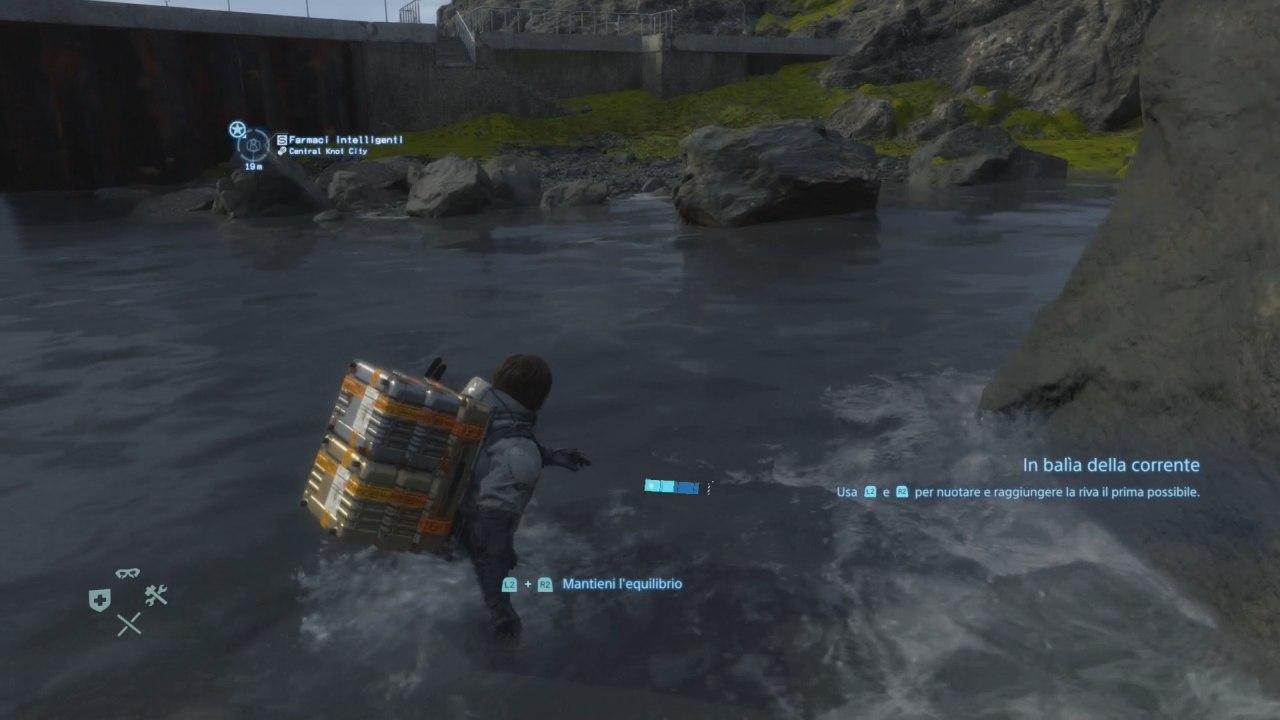 Death Stranding Entrare in un fiume