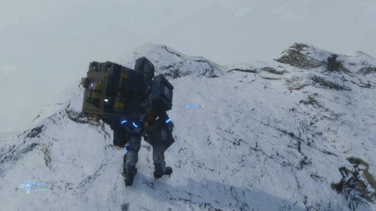 Death Stranding Neve sulla montagna