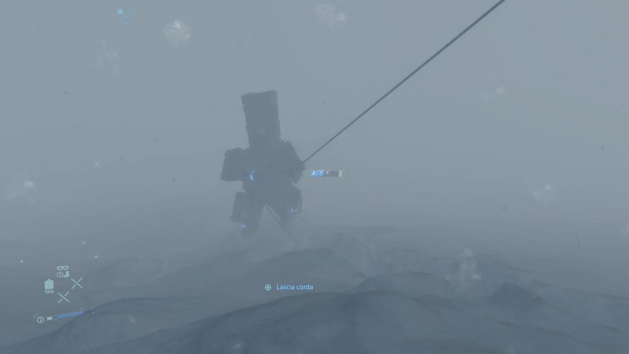 Death Stranding bufera di neve