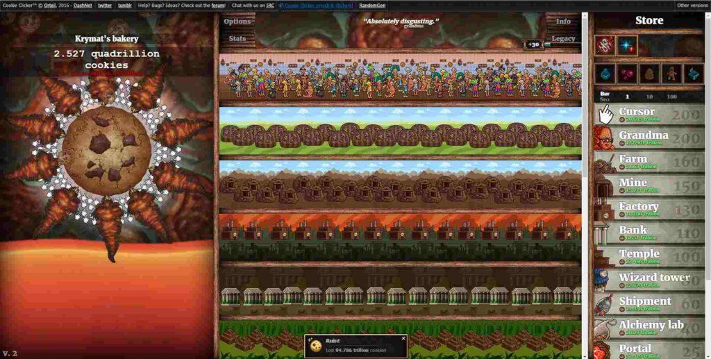 cookie clicker gameplay