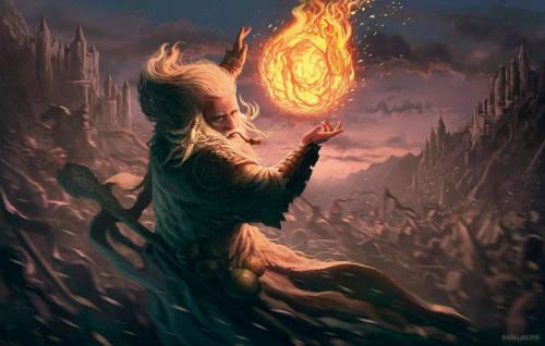 wizard mago palla di fuoco fireball stregone magia incantesimi D&D rpg gdr