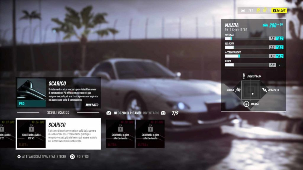 Need for Speed Heat potenziamenti