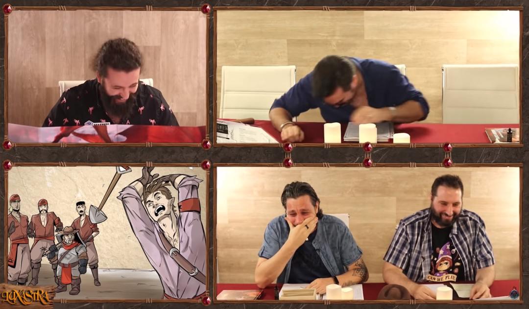 Screenshot dal decimo episodio di Luxastra in cui Rendar si improvvisa carpentiere