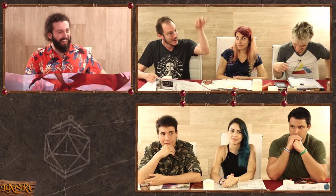 Screenshot che mostra Michele illustrare la sua mandrakata nell'episodio 10 di Luxastra