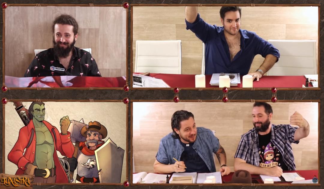 Screenshot dell'episodio 8 di Luxastra in cui Rendar è accolto dai suoi nuovi compagni