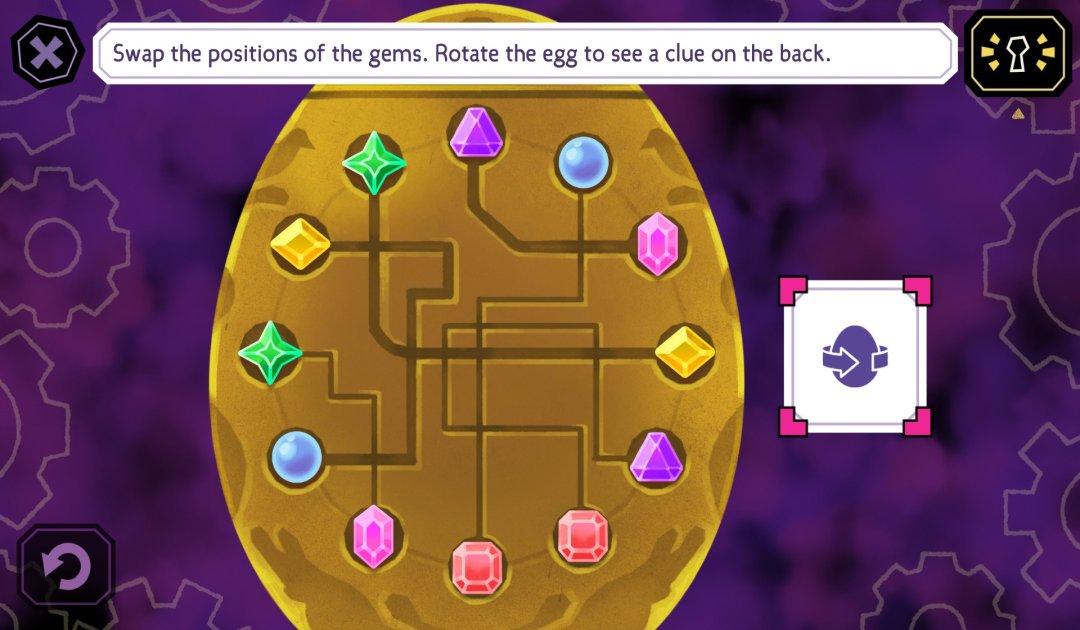 Screenshot del puzzle dell'Uovo in Tangle Tower