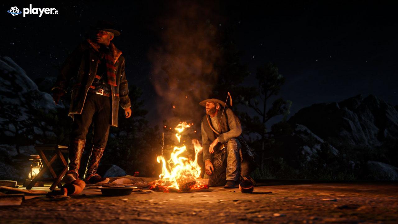 Attorno al falò in Red Dead Redemption 2