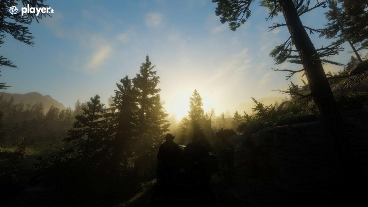Carro e luce in Red Dead Redemption 2