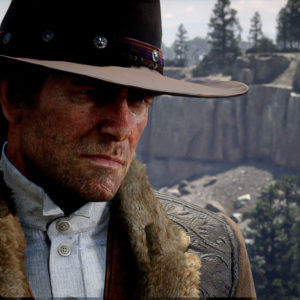 Primo piano di Arthur Morgan in Red Dead Redemption 2