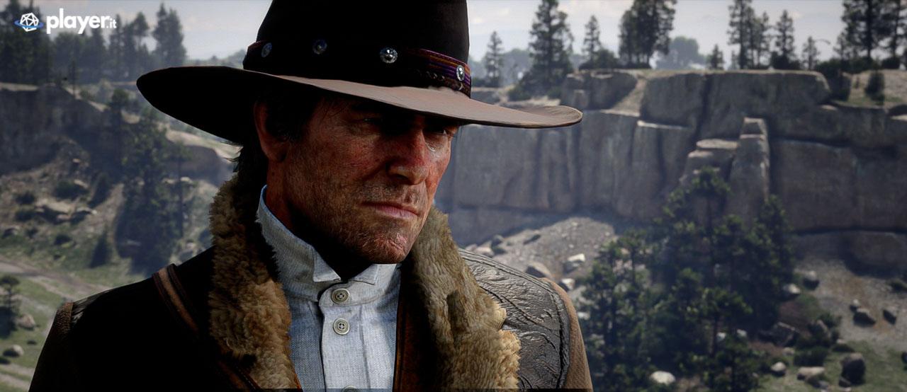 Primo piano di Arthur Morgan in Red Dead Redemption 2