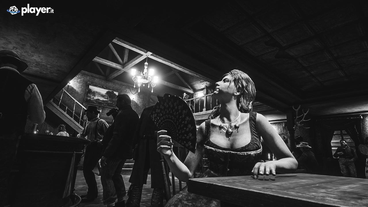 Una cortigiana in un saloon in Red Dead Redemption 2