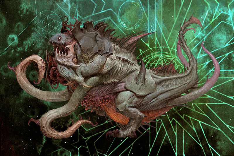 Adrian Smith mostra, Mostra Lucca Comics & Games 2019, Cthulhu: Death May Die, A World of Hate, illustrazione fantasy, illustratore, incontro con l'autore, illustrazione bianco e nero, Illustrazione digitale, CtHulhu, Bokrug