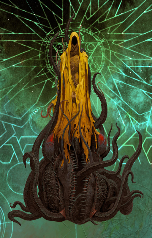 Adrian Smith mostra, Mostra Lucca Comics & Games 2019, Cthulhu: Death May Die, A World of Hate, illustrazione fantasy, illustratore, incontro con l'autore, illustrazione bianco e nero, Illustrazione digitale, CtHulhu, hastur