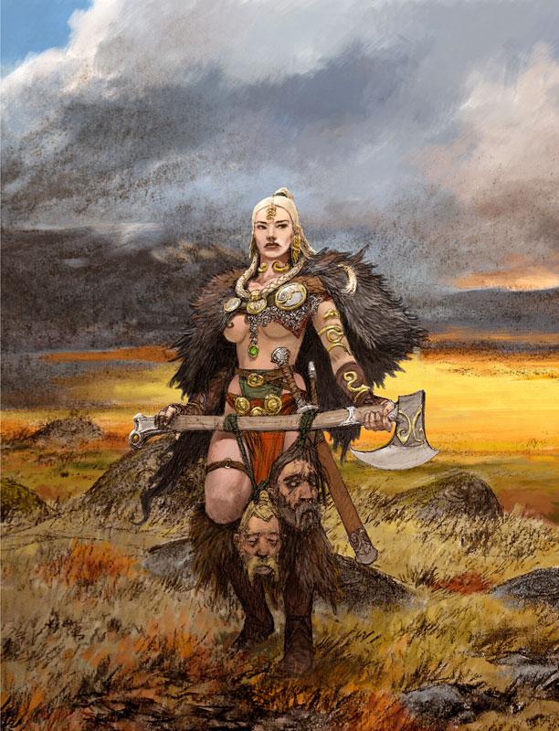 Adrian Smith mostra, Mostra Lucca Comics & Games 2019, Blood Rage, A World of Hate, illustrazione fantasy, illustratore, incontro con l'autore, illustrazione bianco e nero, Illustrazione digitale, Blood Rage