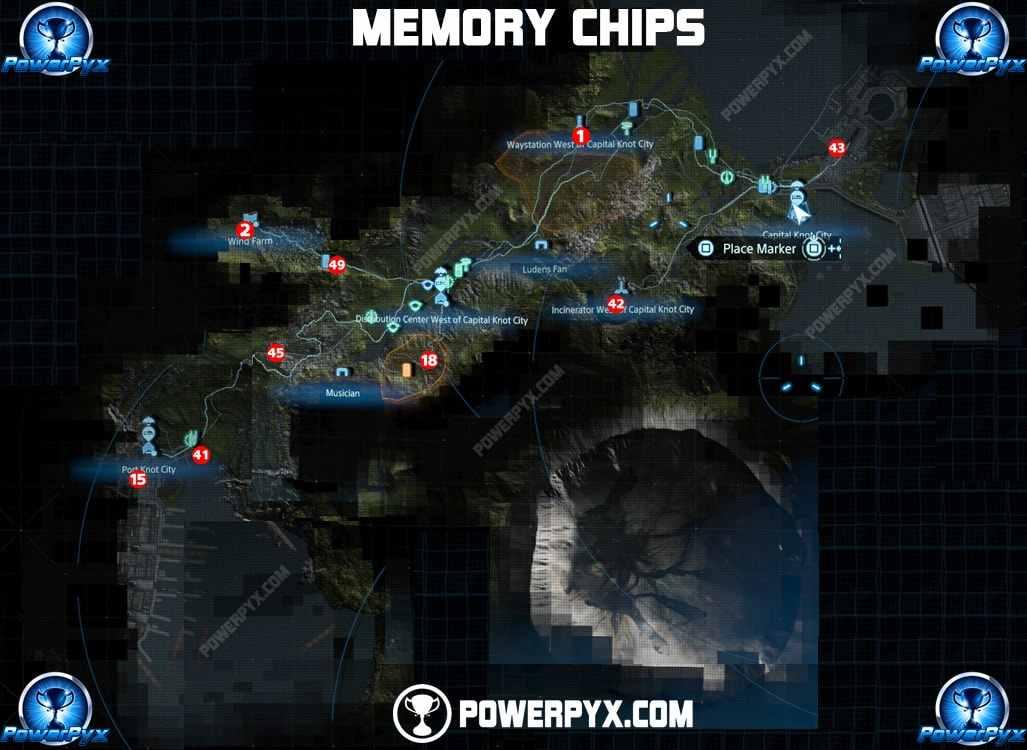 dove trovare tutti i chip di memoria presenti in death stranding
