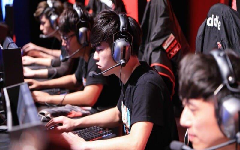 Foto di un raduno di gaming cinese