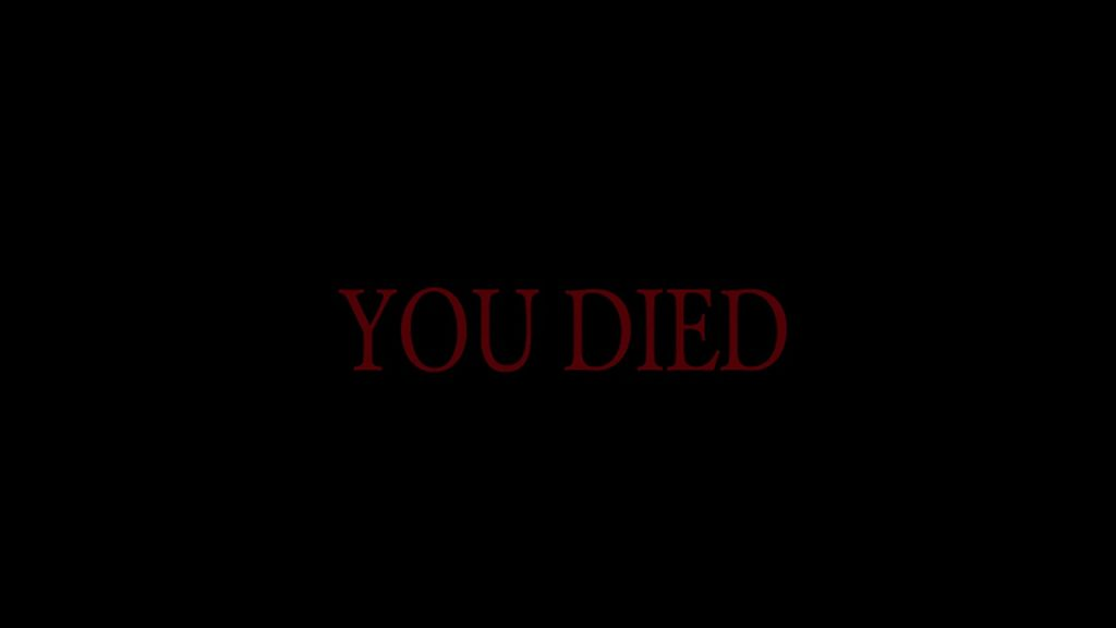 you died dark souls