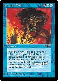 carta di magic the gathering, per la precisione Forza di Volontà