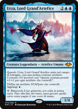 carta di magic the gathering, per la precisione URZA, LORD HIGH ARTIFICIER