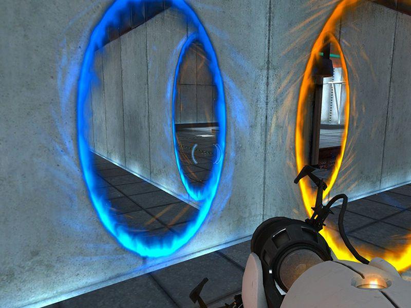Una screen di Portal 2