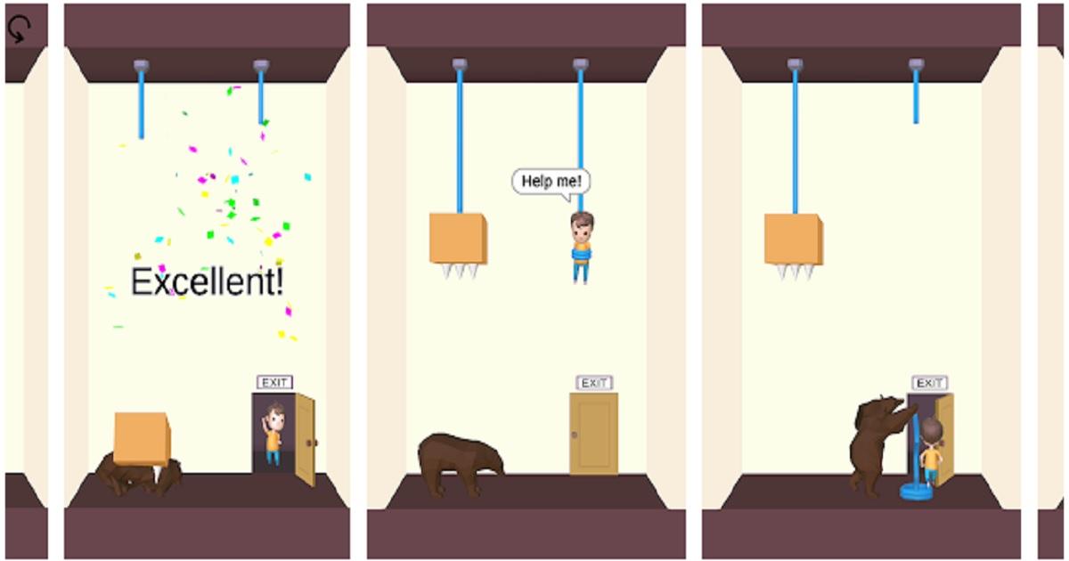 soluzione livelli rescue cut rope puzzle