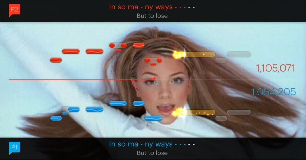 Copertina articolo con una screen di Singstar